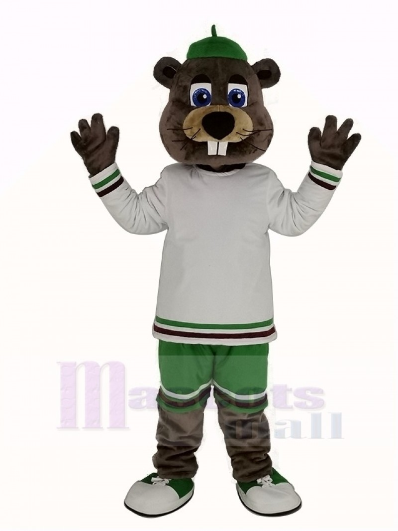 Sport Beaver with Big Nose Mascot Costume