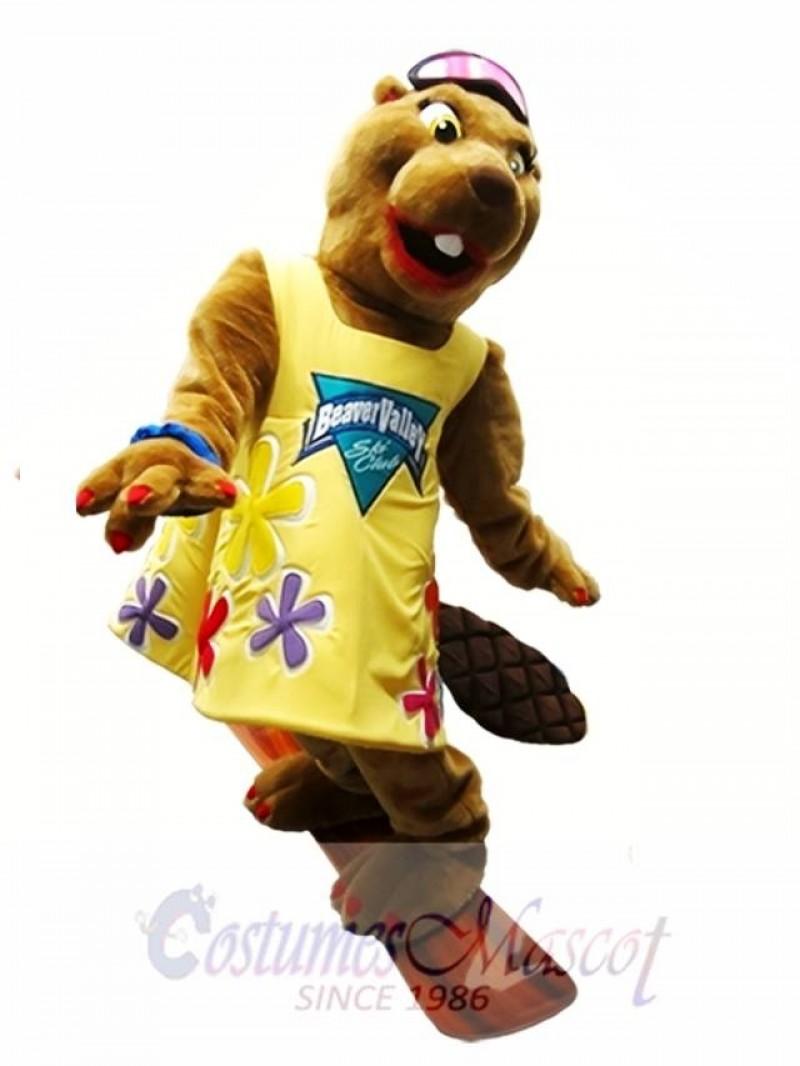 Beaver Mascot Costume Beaver Valley Ski Club Mascot Costume