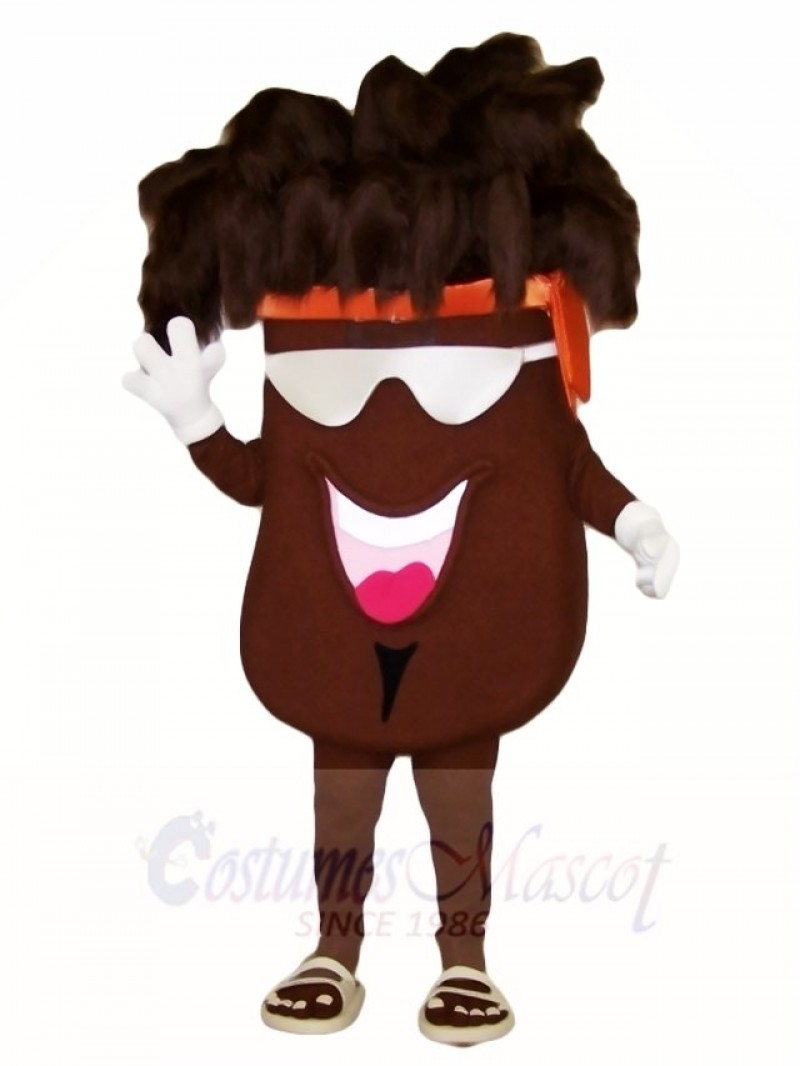 Cool Coffee Bean Mascot Costumes Plant