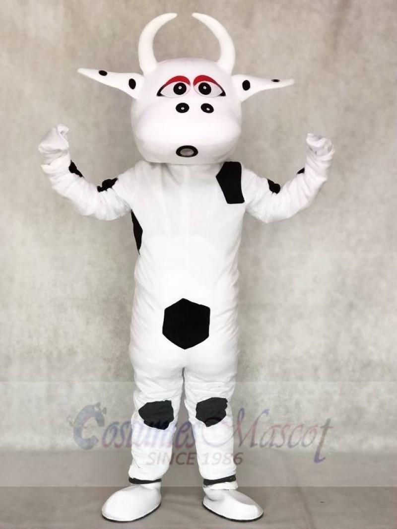 Big Black Dot Cow Mascot Costumes Animal