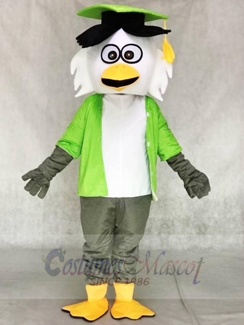 Green Shirt Doctor Owl Mascot Costumes Animal
