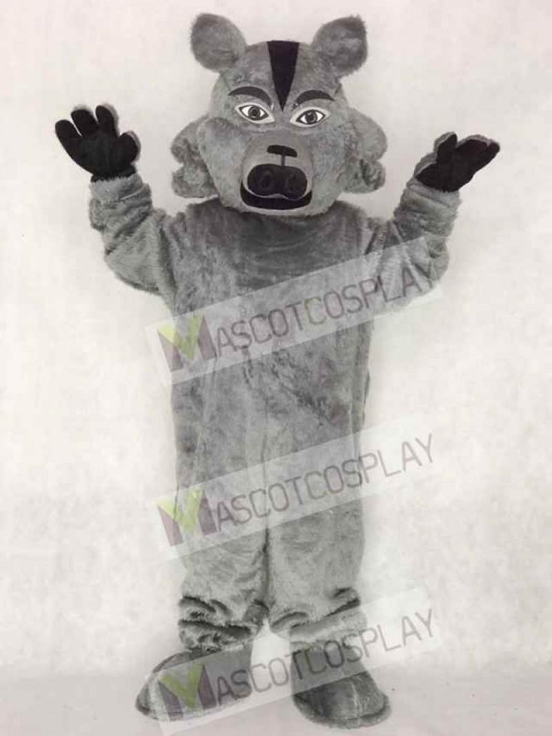Dark Grey Pro Wolf Mascot Costume Animal