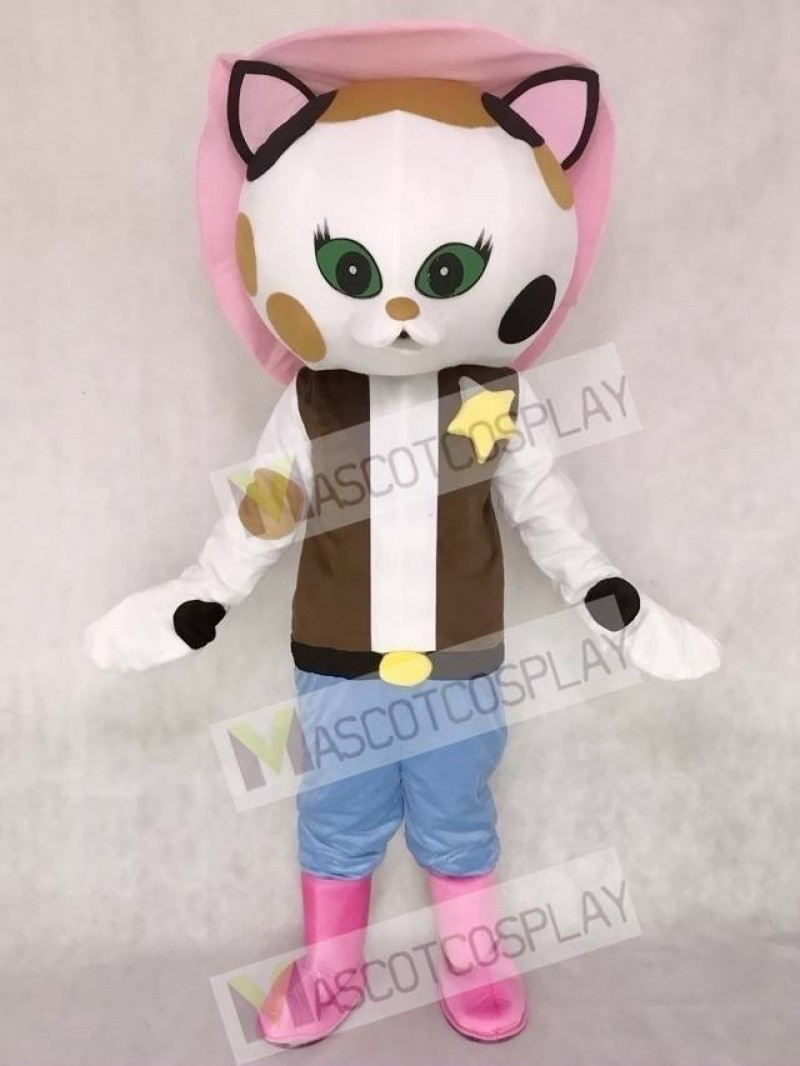 Musical Comedy Series Sheriff Callie Cat Mascot Costume Callie's