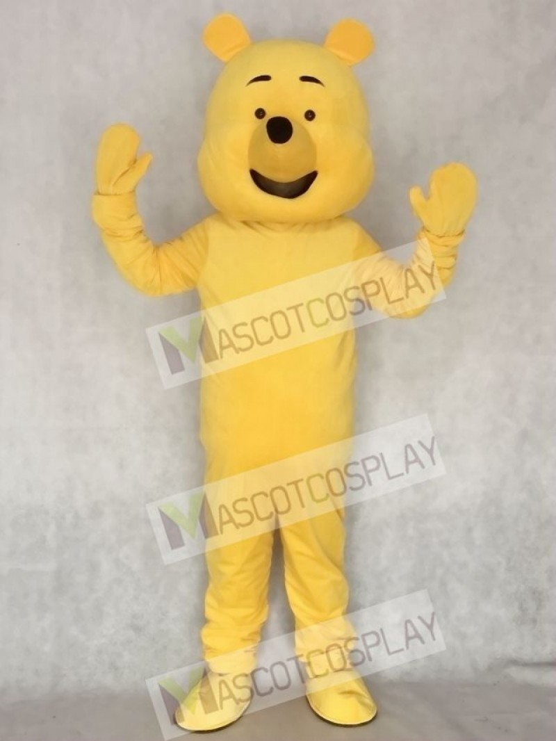 Cartoon Yellow Bear Adult Mascot Costume