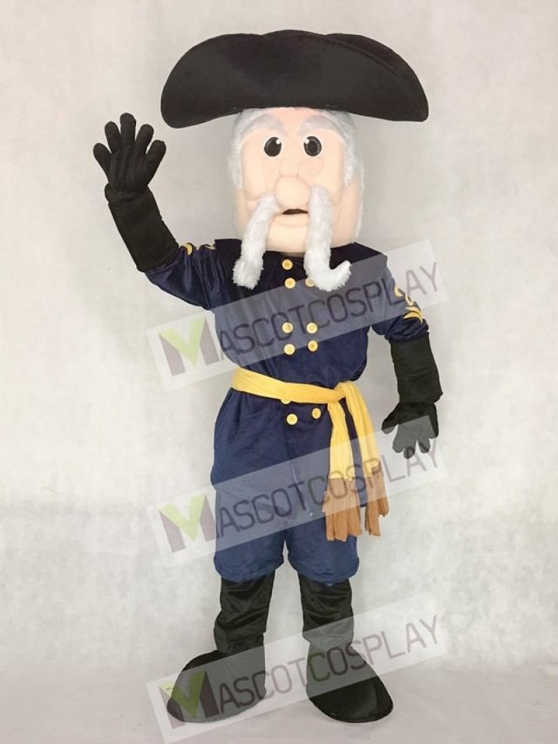 Navy Blue Rebel Mascot Costume