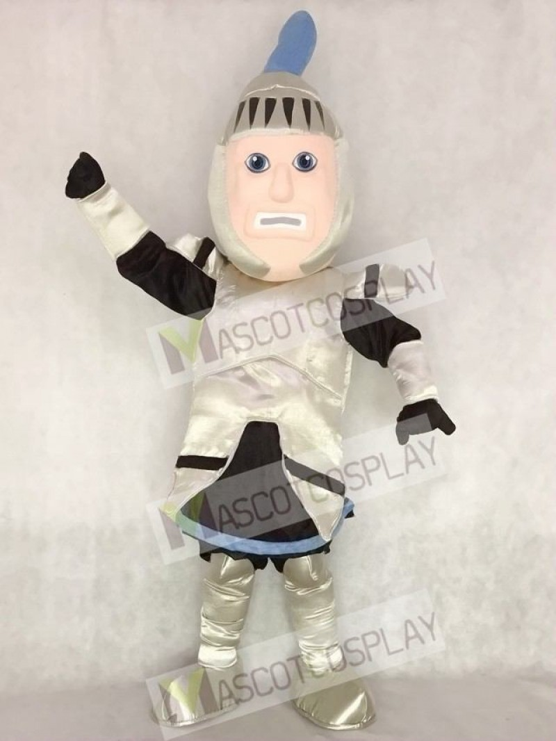 High Quality Silver Armour Knight College of St Rose Mascot Costume