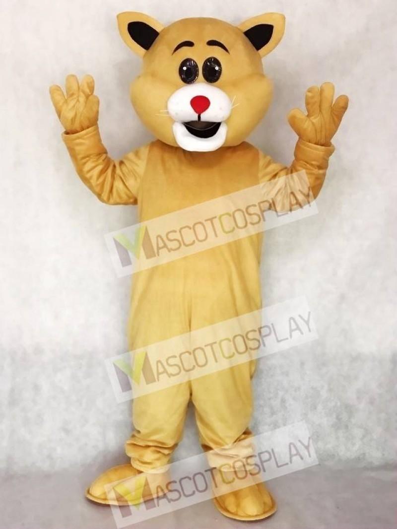 Cute Red Nose Big Ear Cat Mascot Costume
