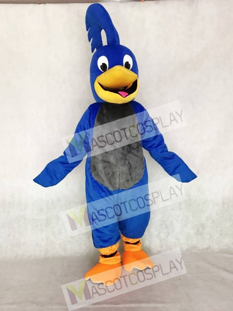 Adult Blue Roadrunner with Gray Belly Mascot Costume