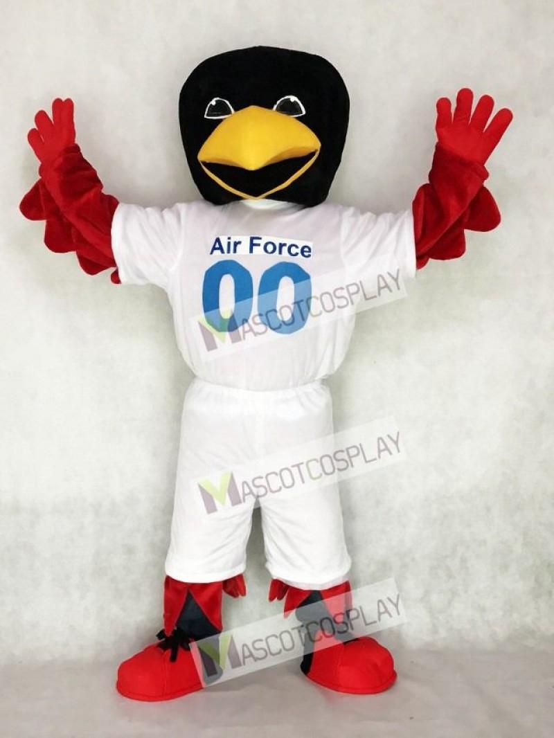 Air Force Mascot Costume Red Bird Mascot
