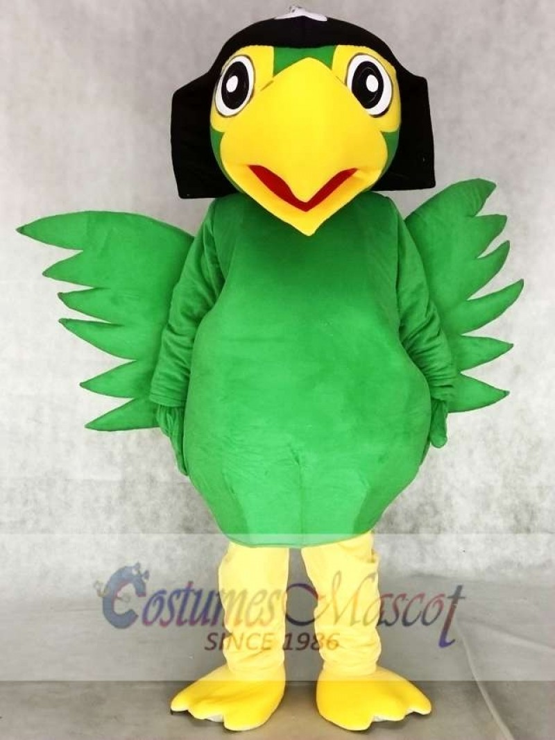 Realistic Green Pirate Parrot Bird Mascot Costumes