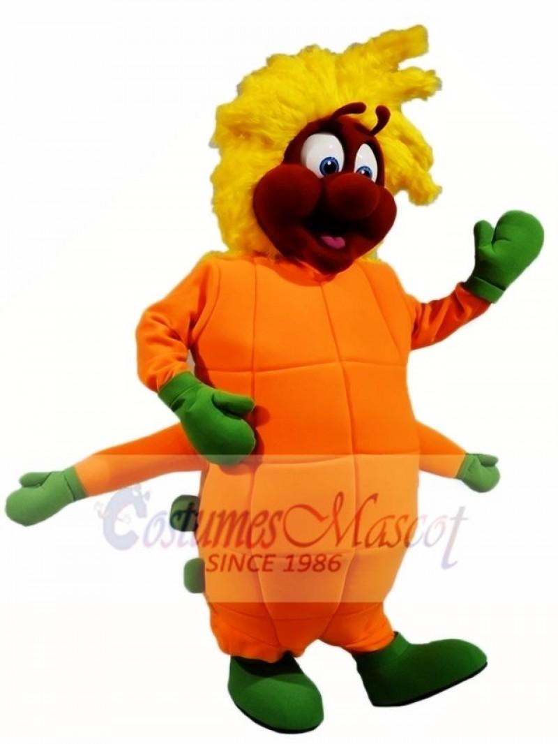 Orange Caterpillar Mascot Costumes Insect