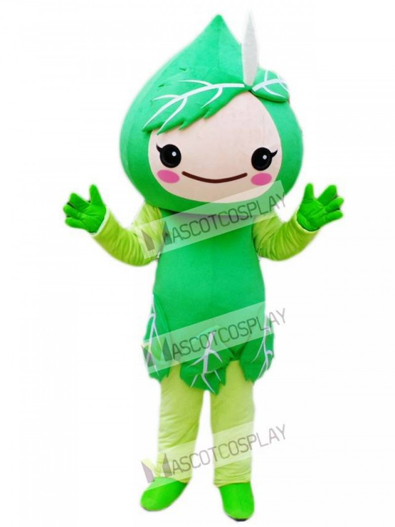 Green Leaves Mascot Costume