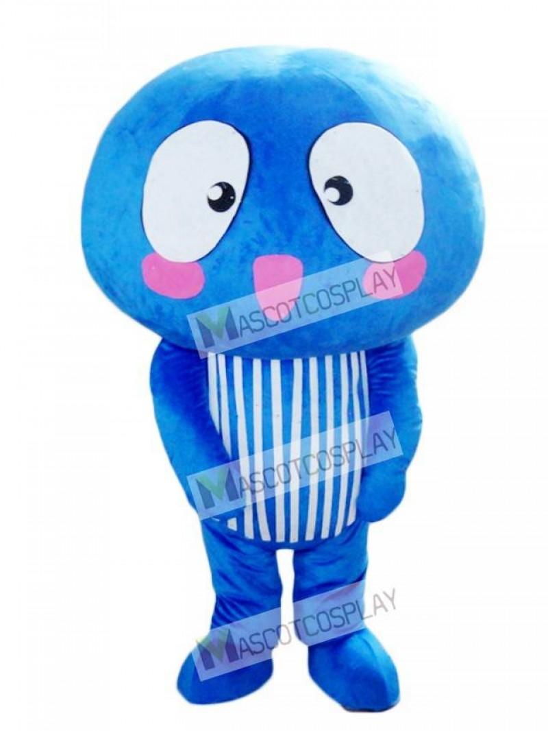 Blue Mushroom Vegetable Mascot Costume