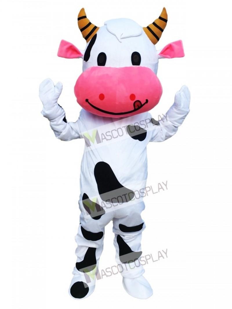 Pink Ear Cow Mascot Costume