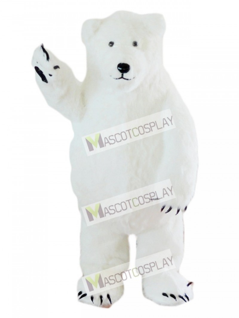 White Polar Bear Mascot Costume