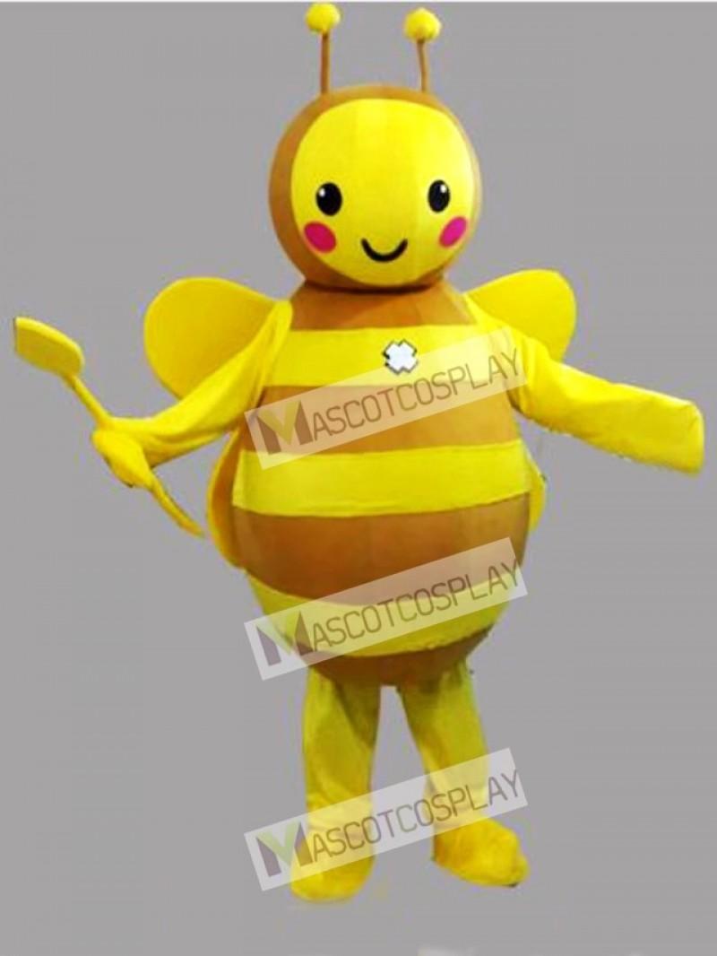 Lovely Yellow Bee Mascot Costume