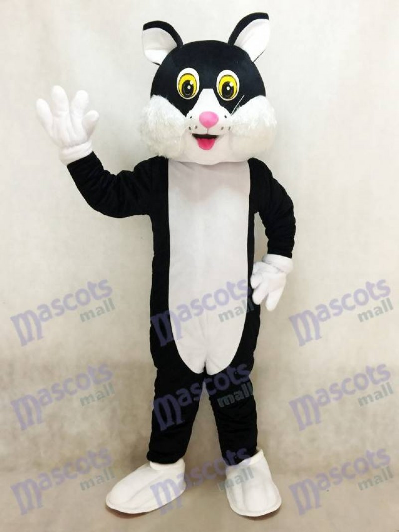 Black Cartoon Cat Mascot Costume