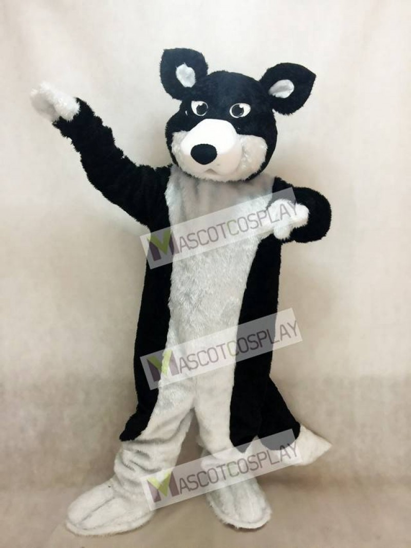 New Black and White Border Collie Husky Dog Mascot Costume Animal