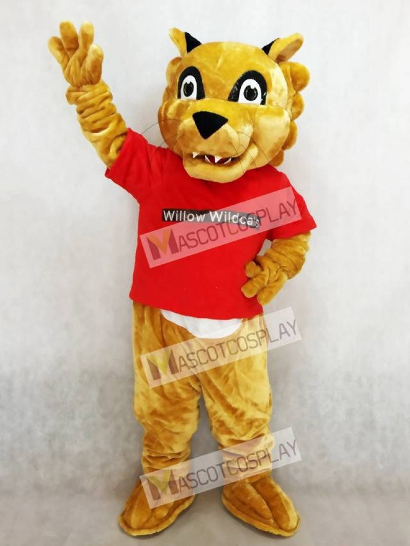 Cougar Paws in Red Shirt Mascot Costumes