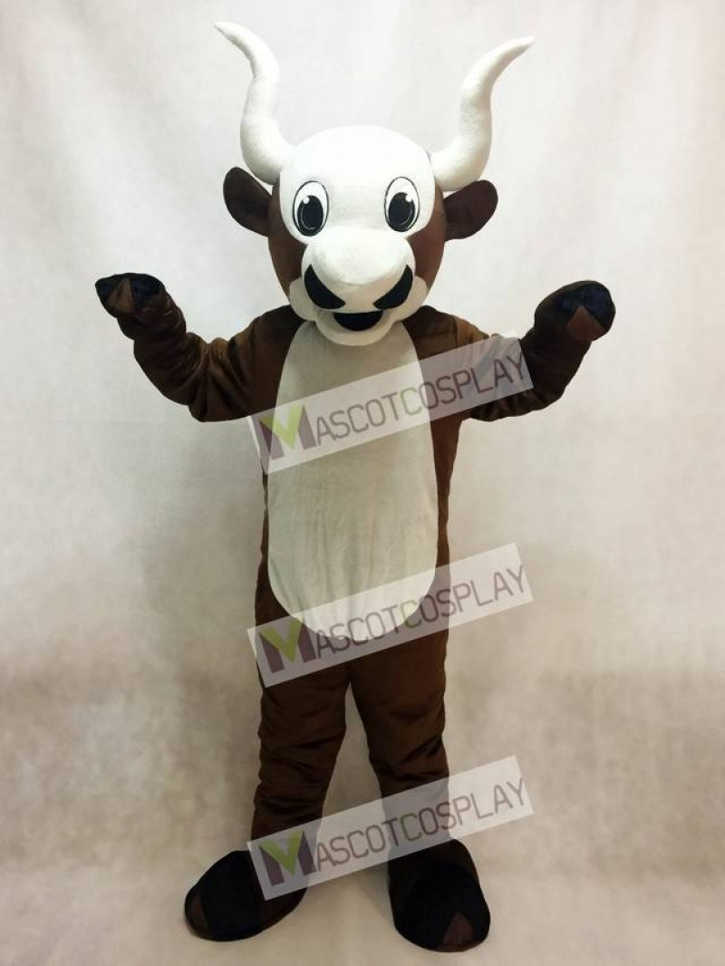 Yak Mascot Costume with White Belly