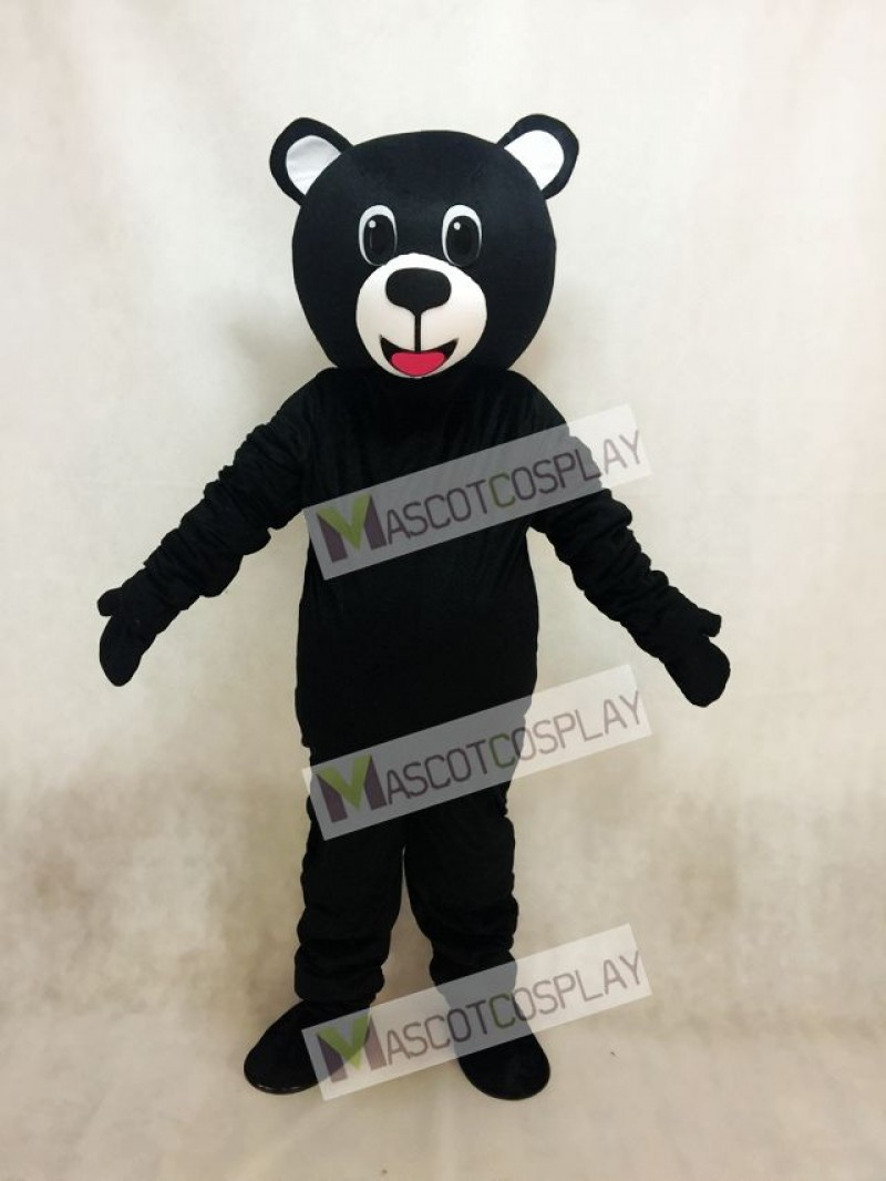 Black Lucky Bear Mascot Costume with Big Belly