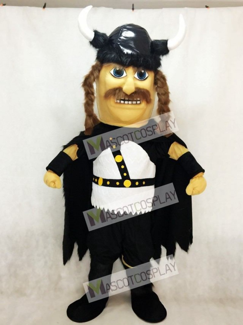 New Odin Viking Plush Mascot Costume with Black Cloak