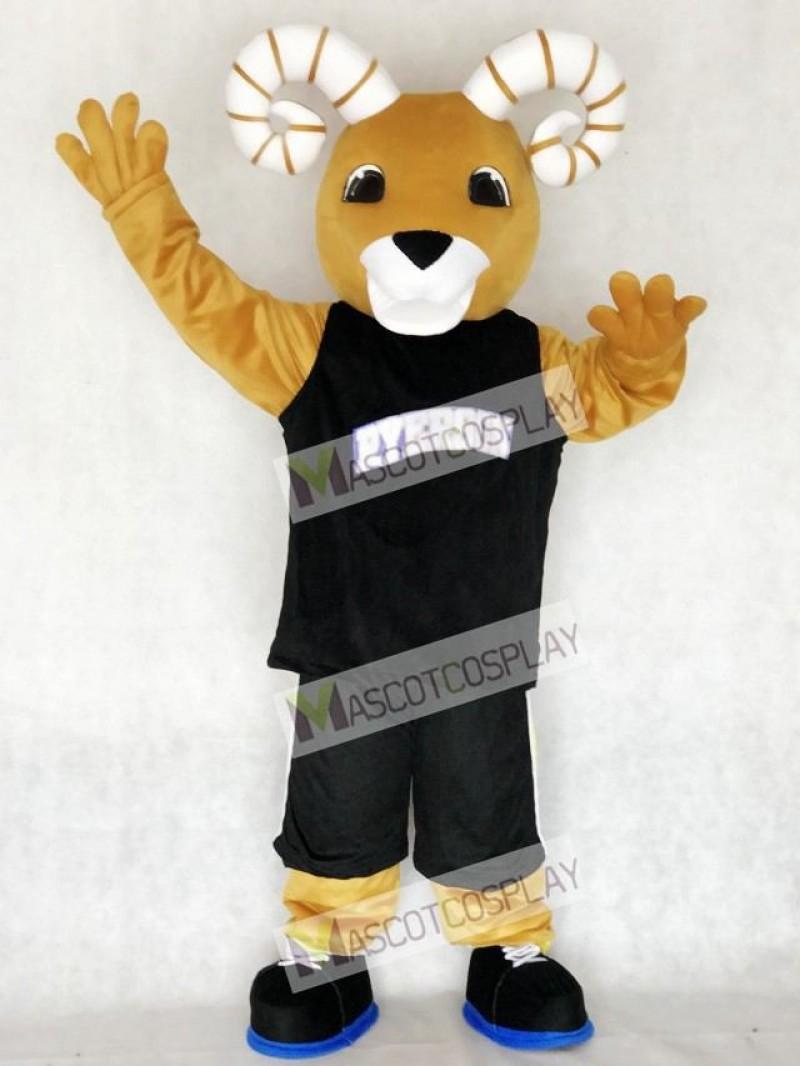 Sport Team Ram Ryerson Mascot Costume in Black Suit