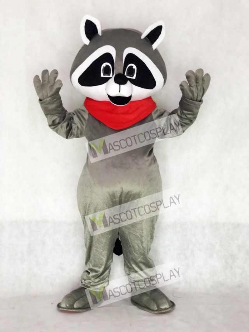 Raccoon with Red Neckerchief Mascot Costume