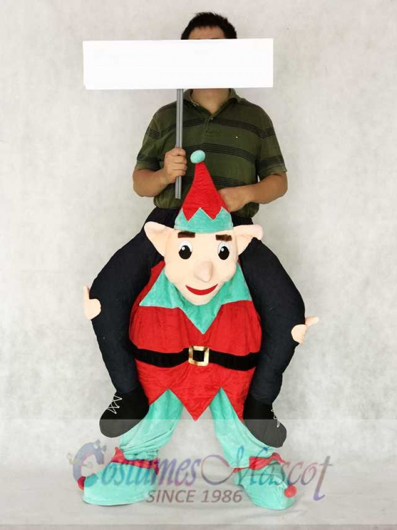 Elf Carry Me Piggy Back Ride On Novelty Mascot Costume