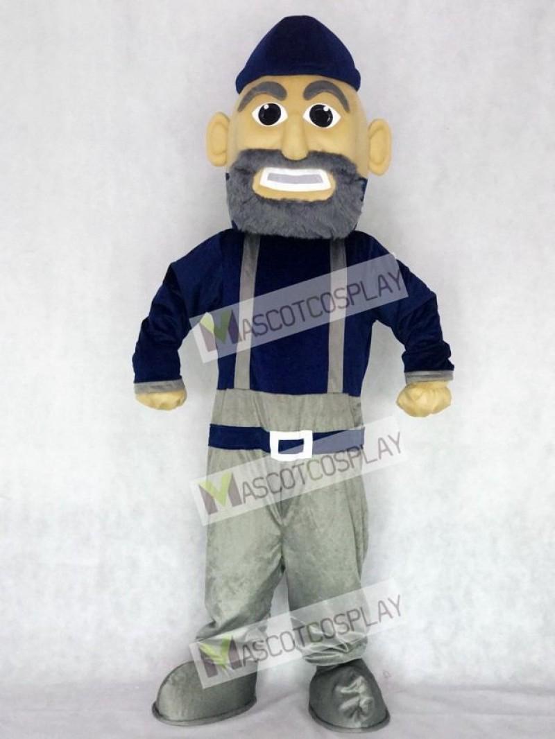 Navy Blue and Gray Mariner Mascot Character Costume