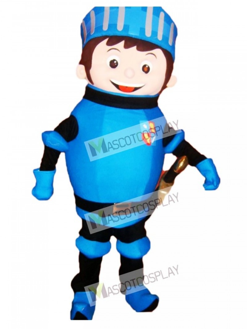 Blue Mike the Knight Mascot Costume
