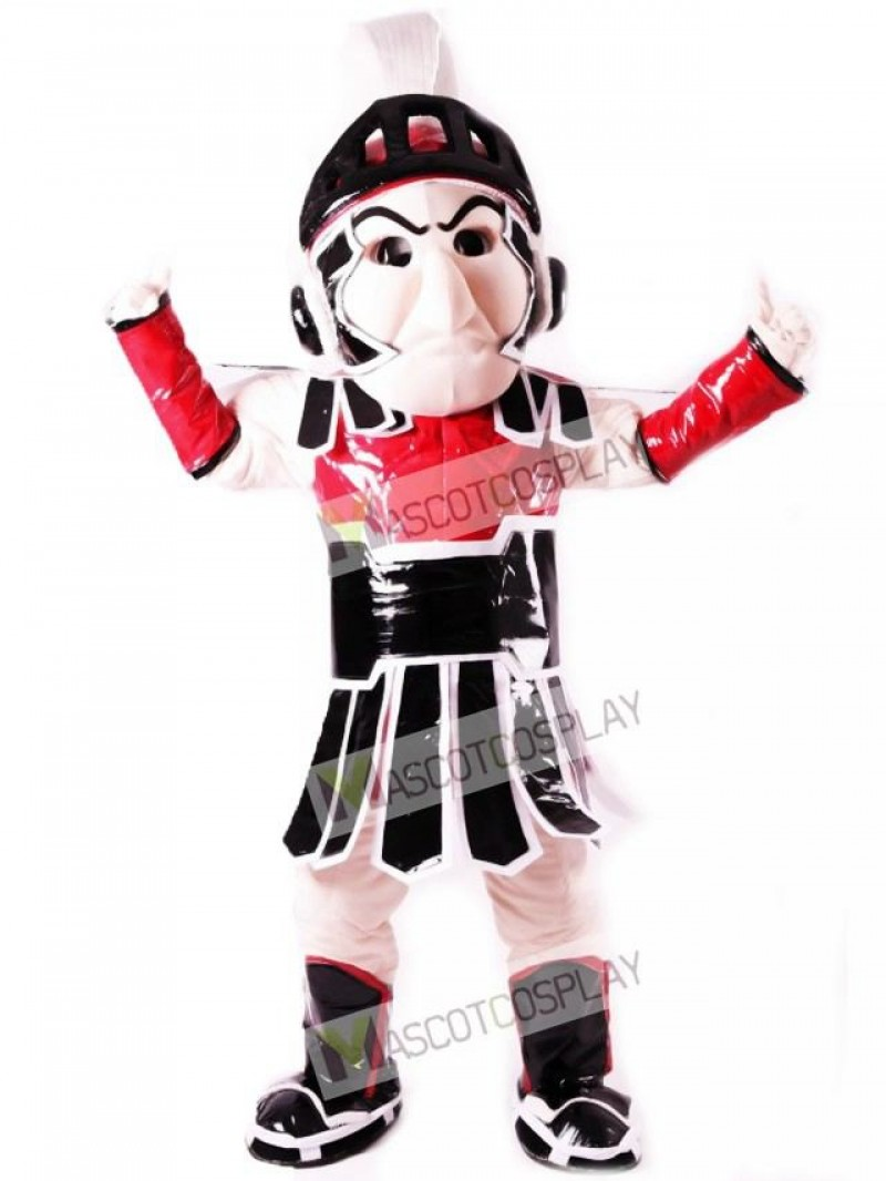 Red Spartan Trojan Knight Sparty Mascot Costume People