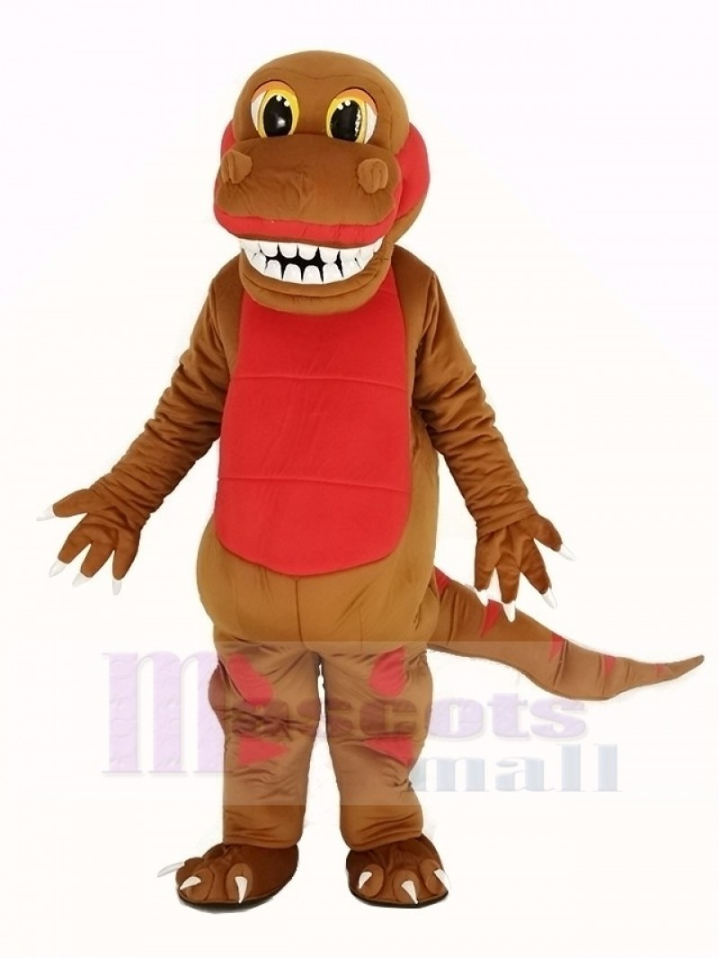 Funny Brown Dinosaur Mascot Costume Animal