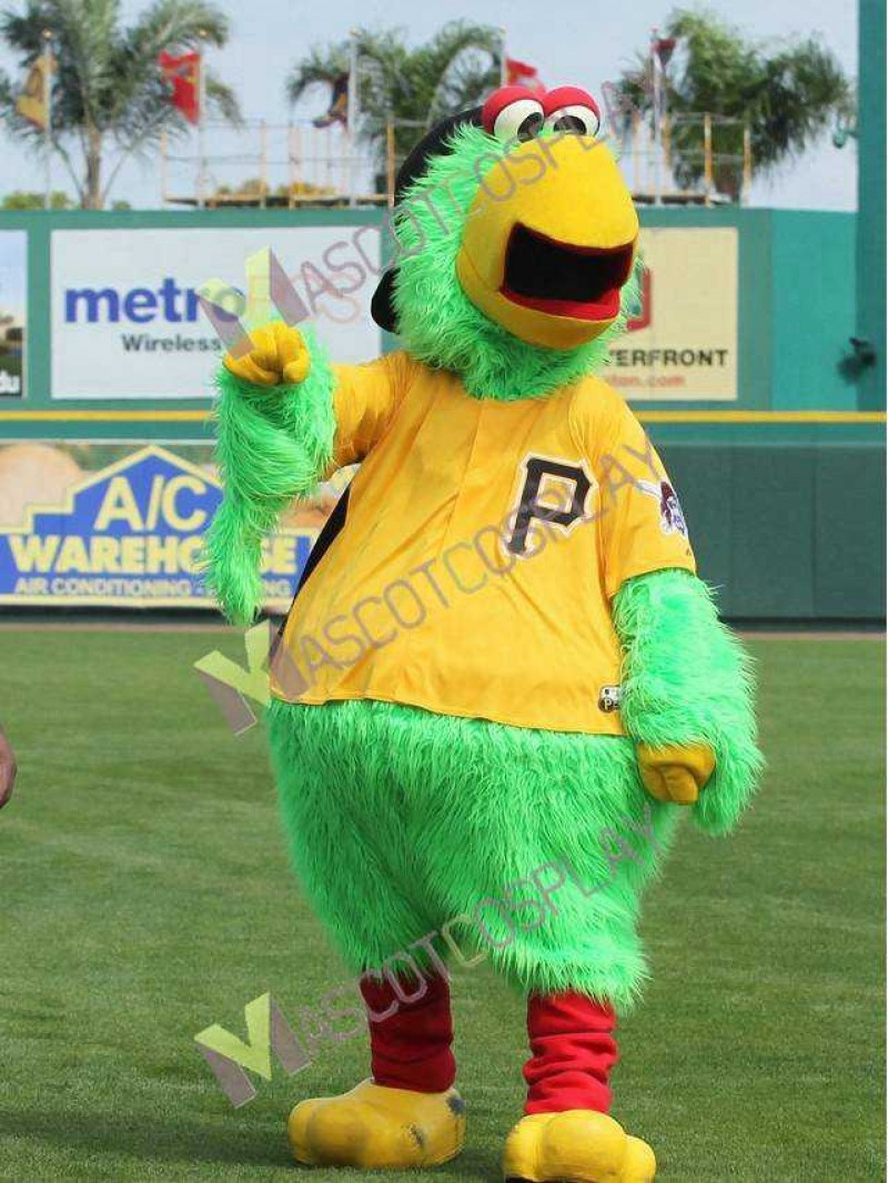 High Quality Realistic Pittsburgh Pirate Parrot Mascot Costume