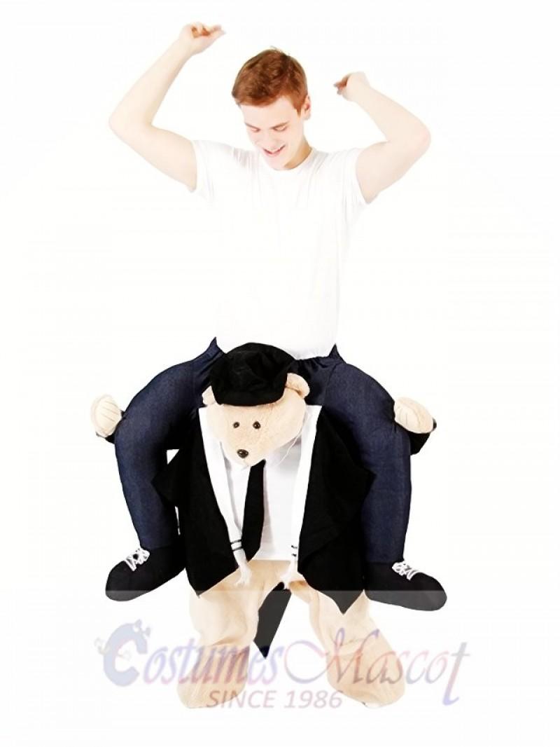 Piggyback Rabbi Carry Me Ride on Rabbi Bear Mascot Costume