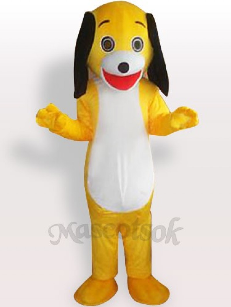 Yellow Little Dog Adult Mascot Costume