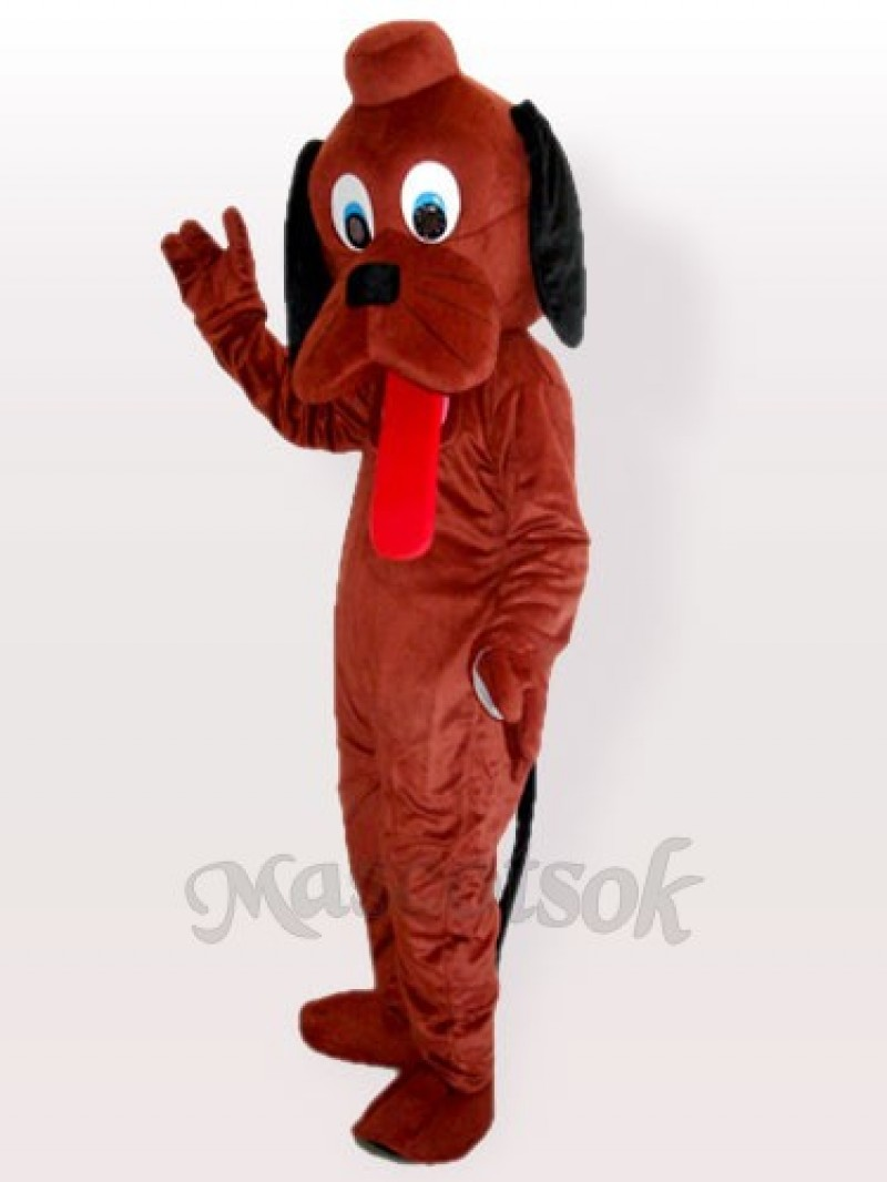 Hey Dog Brown Adult Mascot Costume