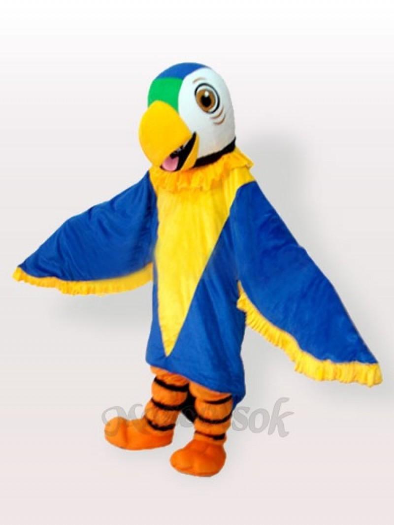 Funny Blue Parrot Mascot Adult Costume