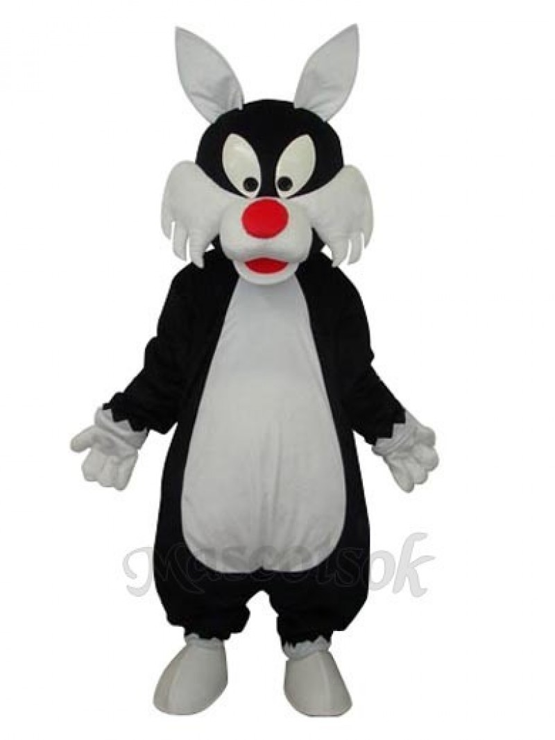 White Mouth Wolf Mascot Adult Costume