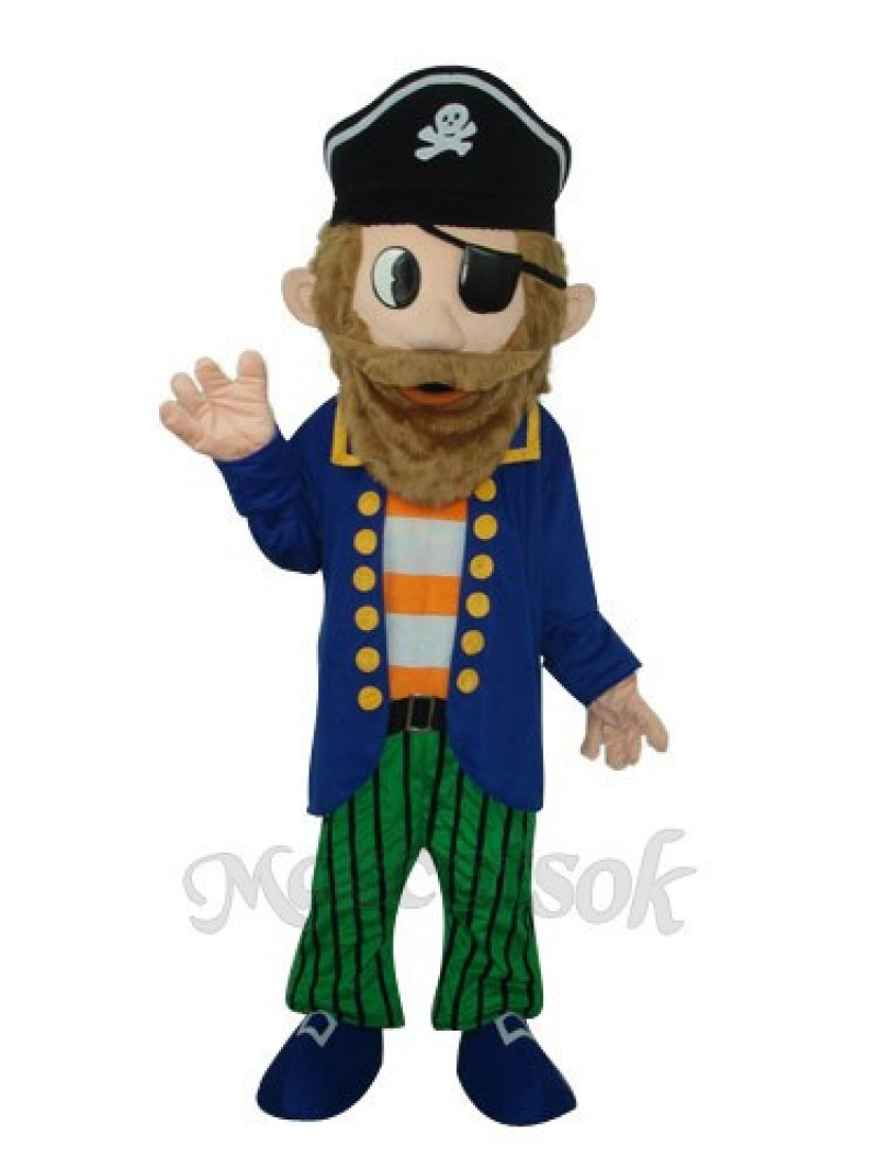 Captain Jack Sparrow Colorful Pirate Mascot Adult Costume