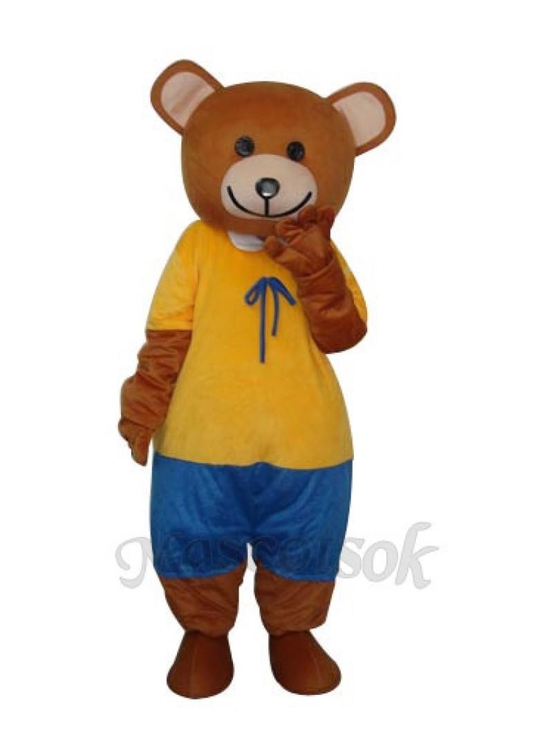 New Ribbon Teddy Bear Mascot Adult Costume