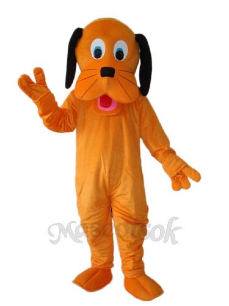 Orange Dog Mascot Adult Costume