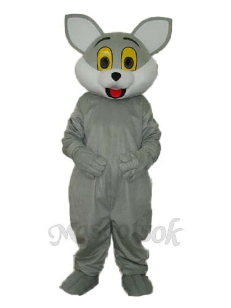 Grey Cat Mascot Adult Costume