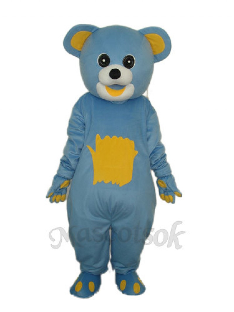 Yellow Belly Blue Bear Mascot Adult Costume