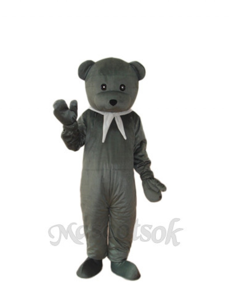 Gray Cook Bear Mascot Adult Costume