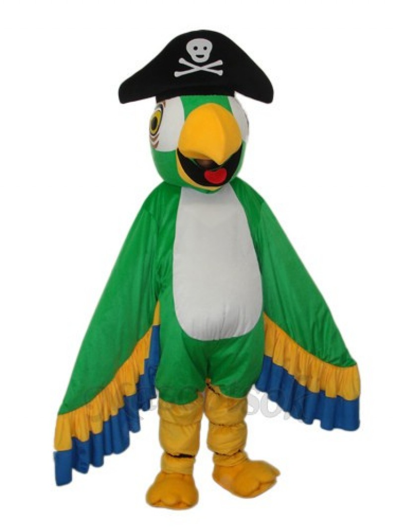 Green Pirate Parrot Mascot Adult Costume
