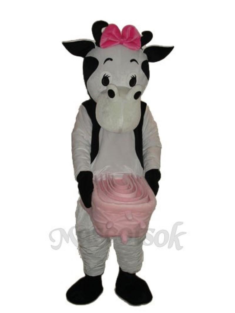 No.4 Cow Mascot Adult Costume
