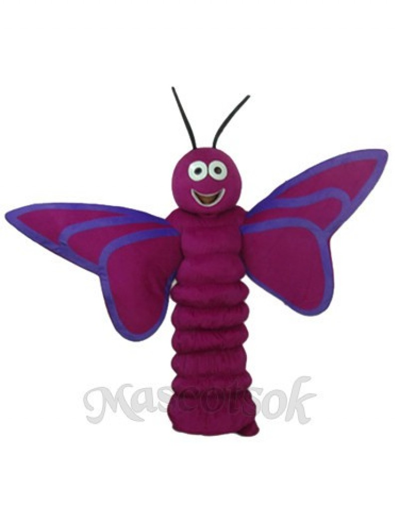 Purple Butterfly Mascot Adult Costume