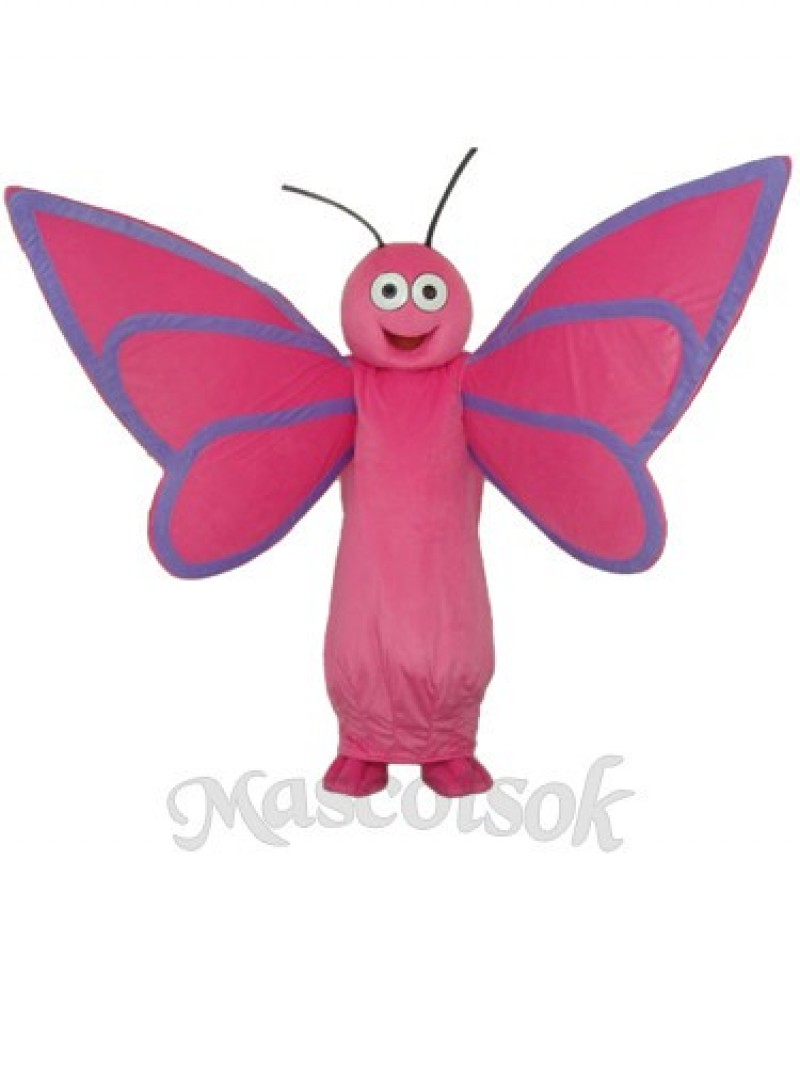Pink Butterfly Mascot Adult Costume