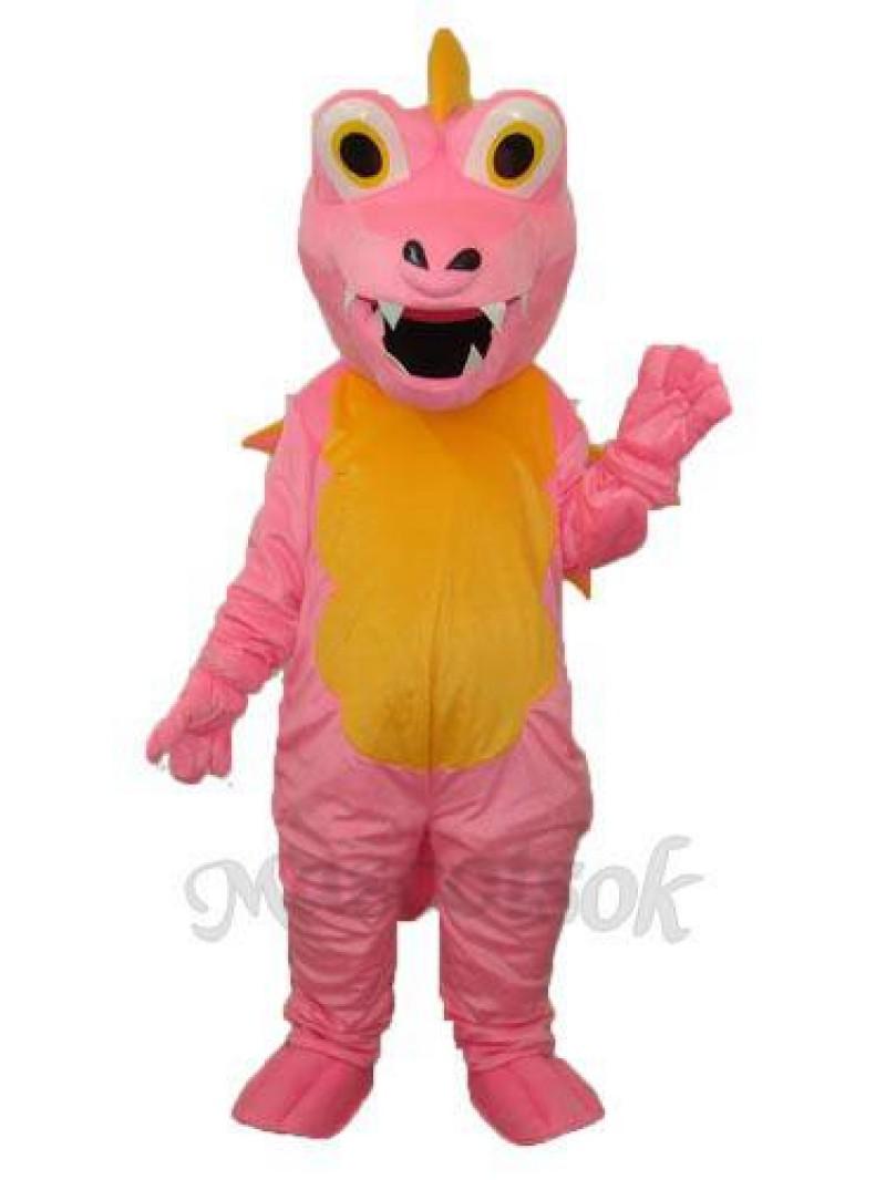 Pink Long Thorn Dragon Mascot Adult Costume